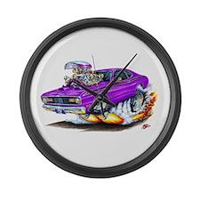 Duster Purple Car Large Wall Clock