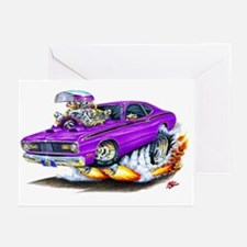 Duster Purple Car Greeting Cards (Pk of 10)