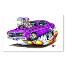 Duster Purple Car Rectangle Decal