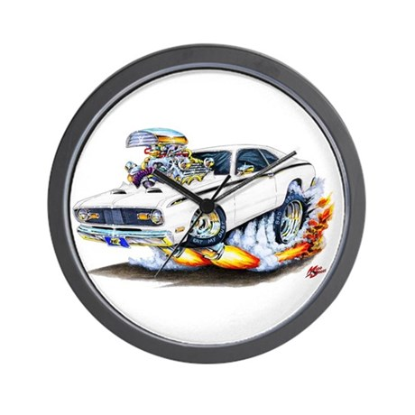 Duster White Car Wall Clock