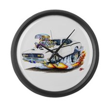 Duster White Car Large Wall Clock