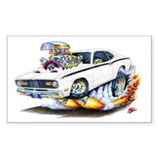 Duster White Car Rectangle Decal