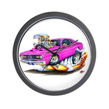 Duster Pink Car Wall Clock