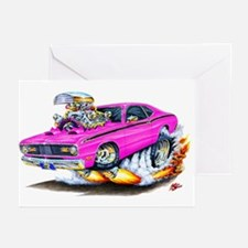 Duster Pink Car Greeting Cards (Pk of 10)
