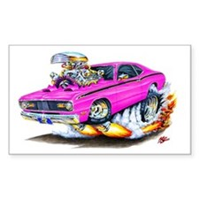 Duster Pink Car Rectangle Decal