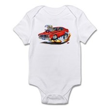 Duster Red Car Infant Bodysuit