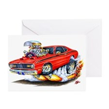 Duster Red Car Greeting Cards (Pk of 10)