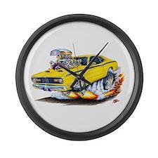 Duster Yellow Car Large Wall Clock