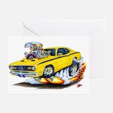 Duster Yellow Car Greeting Cards (Pk of 10)
