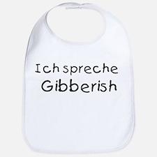 Ich Spreche Gibberish Bib