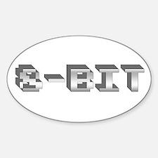 8-Bit Oval Decal
