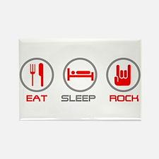 Eat Sleep Rock Rectangle Magnet