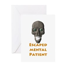 Escaped Mental Patient with s Greeting Card