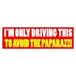 Avoid The Paparazzi Bumper Sticker