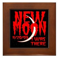 New Moon I was there Framed Tile