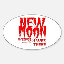 New Moon I was there Oval Decal