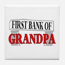 BANK OF GRANDPA Tile Coaster