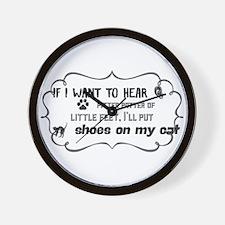 If I want to hear pitter patter of litt Wall Clock