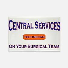 Central Services Blue Rectangle Magnet