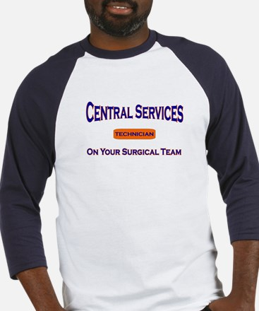 Central Services Blue Baseball Jersey