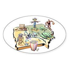 Iowa Map Oval Stickers