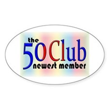 The 50 Club Oval Sticker (10 pk)