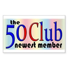 The 50 Club Rectangle Decal