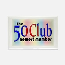 The 50 Club Rectangle Magnet