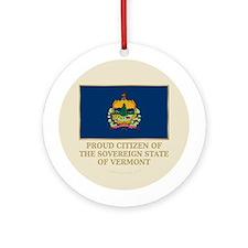 Vermont Proud Citizen Ornament (Round)