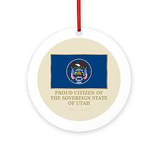 Utah Proud Citizen Ornament (Round)