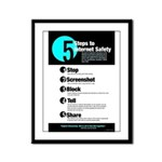 Internet Safety Framed Panel Print