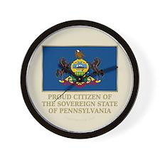 Pennsylvania Proud Citizen Wall Clock