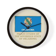 Oklahoma Proud Citizen Wall Clock