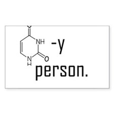 Uracil-y Person Rectangle Decal