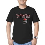 Curling Rox Men's Fitted T-Shirt (dark)