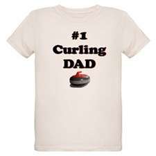 #1 Curling Dad T-Shirt