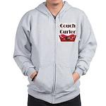 Couch Curler Zip Hoodie