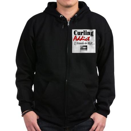 Curling Addict (Hit) Zip Hoodie (dark)