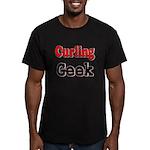 Curling Geek Men's Fitted T-Shirt (dark)