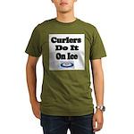 Curlers Do It On Ice Organic Men's T-Shirt (dark)