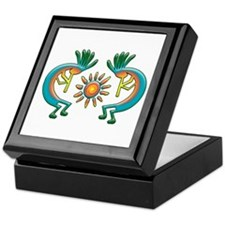 Kokopelli with Sun Keepsake Box