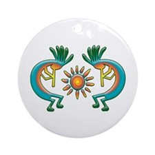 Kokopelli with Sun Ornament (Round)