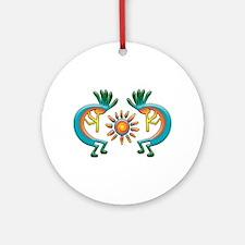 Kokopelli with Sun Ornament (Round)