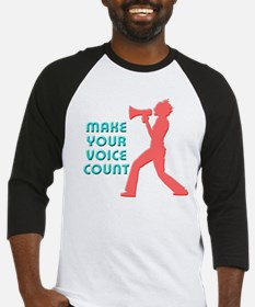Make Your Voice Count Baseball Jersey