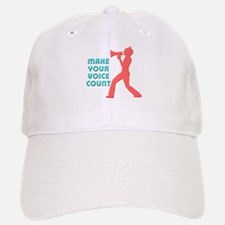 Make Your Voice Count Baseball Baseball Cap