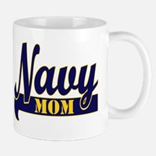 Collegiate Navy Mom 2 Mug