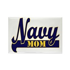 Collegiate Navy Mom 2 Rectangle Magnet