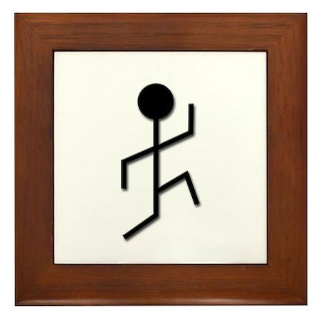 Running Man Framed Tile