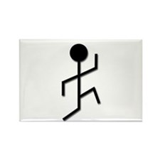 Running Man Rectangle Magnet (100 pack)