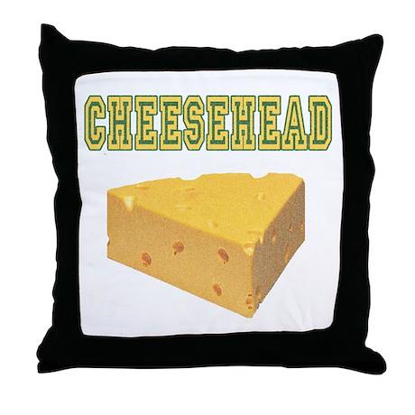 Cheesehead Throw Pillow